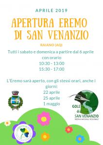Read more about the article Apertura Eremo d San Venanzio 2019