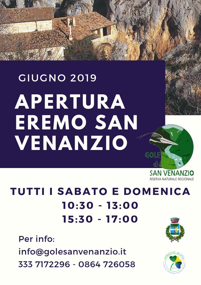 Eremo di San Venanzio: Apertura Giugno 2019